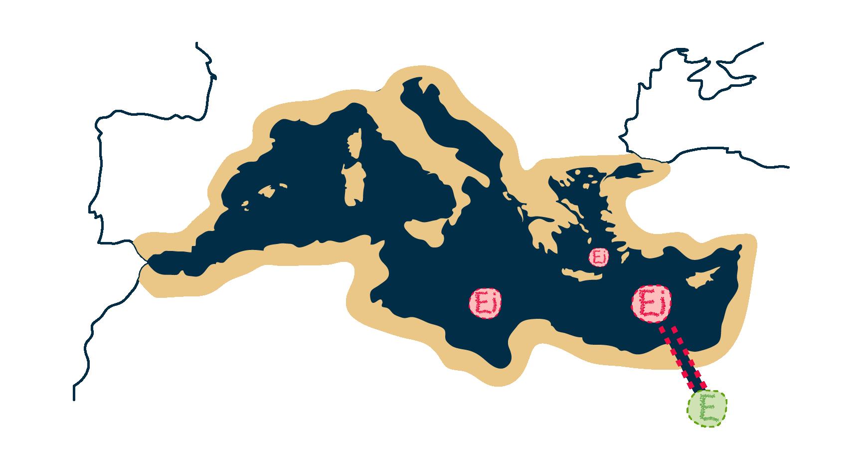 Mediterraneo y Canal de Suez